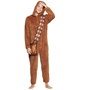 NWOT Men's Star Wars Chewbacca Union Suit Pajama
